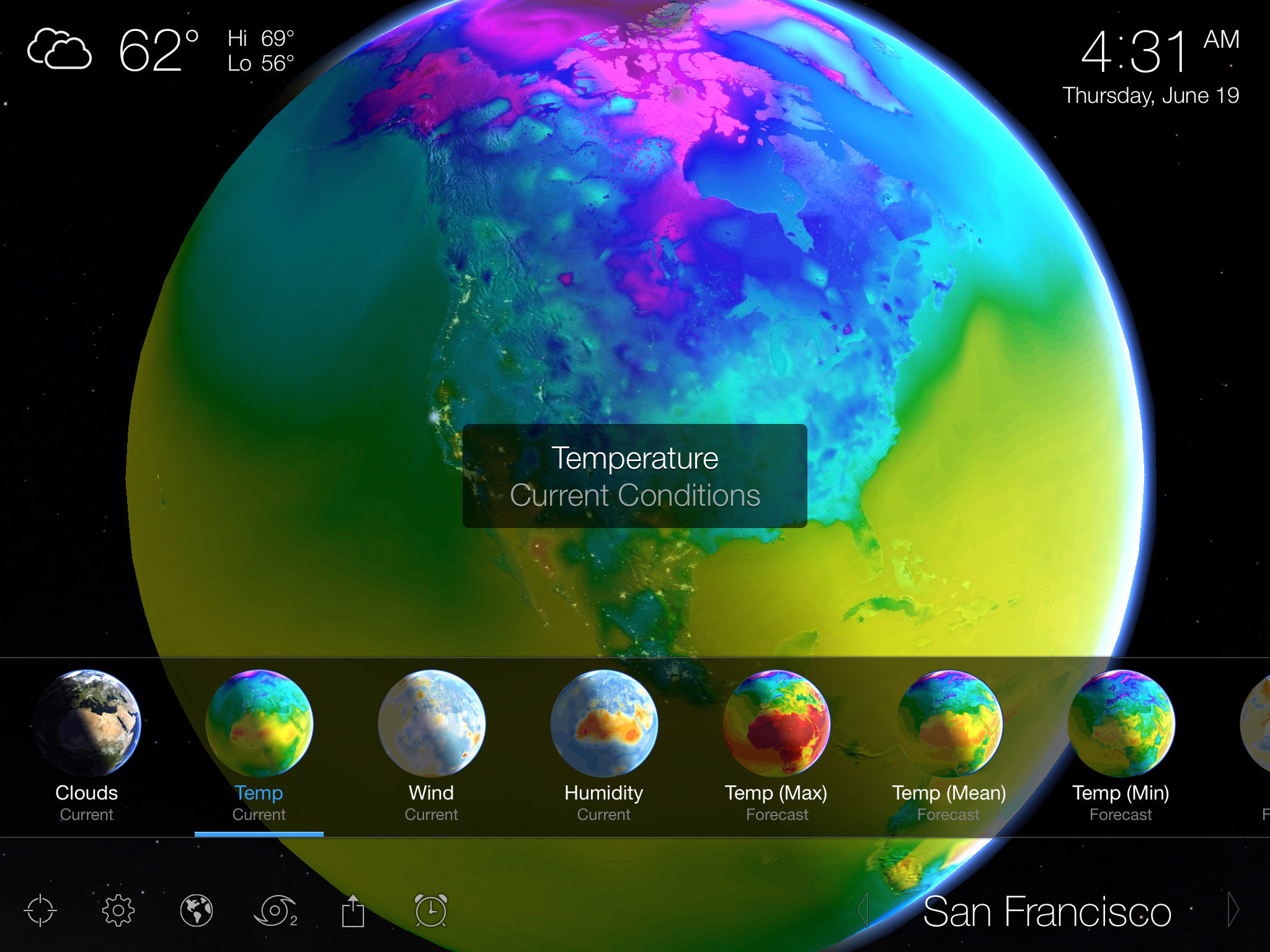 Living Earth for the Apple iPad, iPhone and iPod Touch